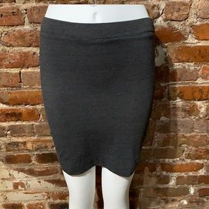 LA Made Trina Skirt  Dark Gray USS NWT